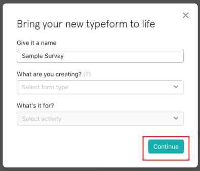 NameSurveyTypeform
